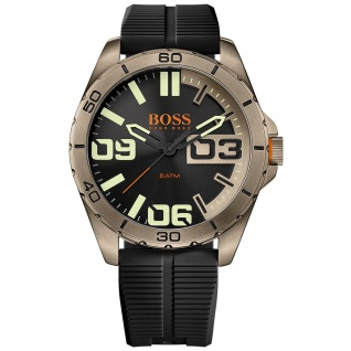 Boss Orange Berlin Uhr Herrenuhr Silikon schwarz