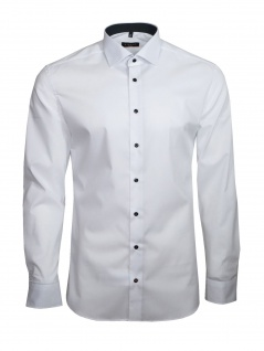 Eterna Herren Hemd Langarm Slim Fit Hemden 8585/00/F140 Weiß M/40