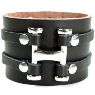 CJBB1910 Herren Armband Leder braun 21 cm