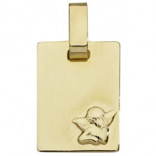 Basic Gold EN31 Kinder Anhänger Schutzengel 14 Karat (585) Gelbgold
