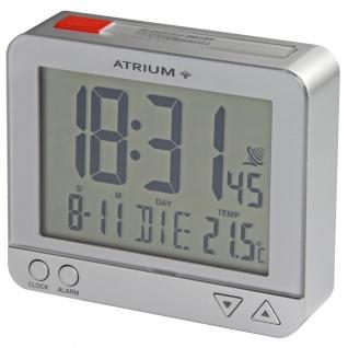 ATRIUM A760-19 Funkwecker Wecker Datum Alarm Digital silber