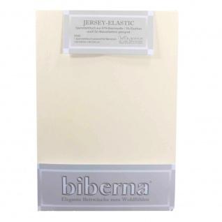 Biberna 77866-555 Jersey Elastic Spannbetttuch Creme 90x190 100x220