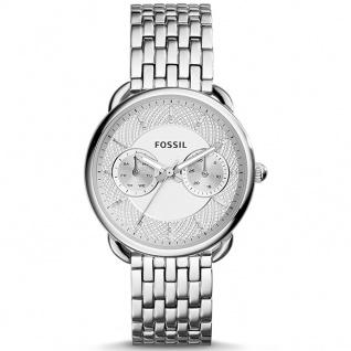 Fossil ES3712 TAILOR Uhr Damenuhr Edelstahl Datum silber