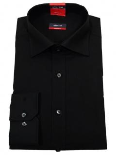Eterna Herrenhemd 1100/39/X177 Modern Fit Schwarz Gr. L/41