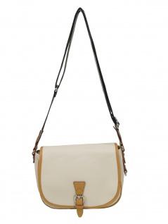Esprit Damen Handtasche Tasche Schultertasche Susi Saddle Bag Beige