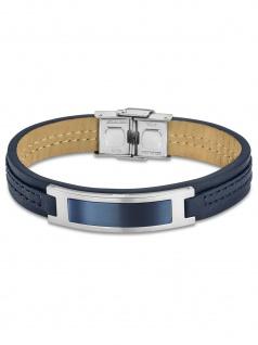 LOTUS LS1808-2/3 Herren Armband Edelstahl Silber Blau 23, 5 cm