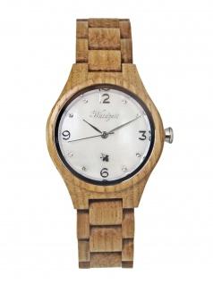 Waidzeit YS03 Barrique Blanc de Blancs Uhr Damenuhr Holz Braun