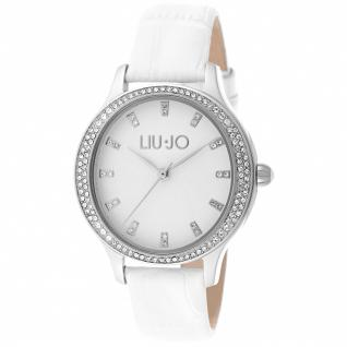 LIU JO TLJ1006 Giselle Uhr Damenuhr Lederarmband Weiß
