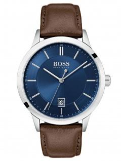 Hugo Boss 1513612 OFFCR Uhr Herrenuhr Lederarmband Datum Braun