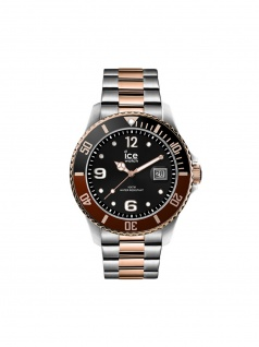 Ice-Watch 016655 ICE Steel Chic Silver rose-gold L Uhr Datum bicolor