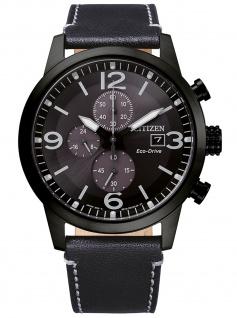 Citizen CA0745-29E Eco Drive Chronograph Uhr Herrenuhr Datum schwarz