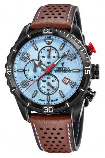 Festina F20519/1 Chronograph Uhr Herrenuhr Leder Chrono Datum braun