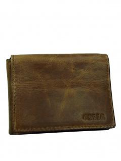 Fossil Herren Geldbörse DERRICK Execufold Leder Braun ML3700-200