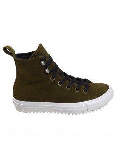 Converse Damen Schuhe CT All Star Hiker Hi Oliv Leder Sneakers 38 EU