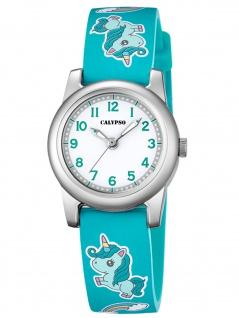 Calypso K5713/C Einhorn Uhr Mädchen Kinderuhr Kunststoff grün