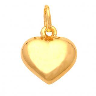 Basic Gold HZ10 Damen Anhänger Herz 14 Karat (585) Gelbgold Gold