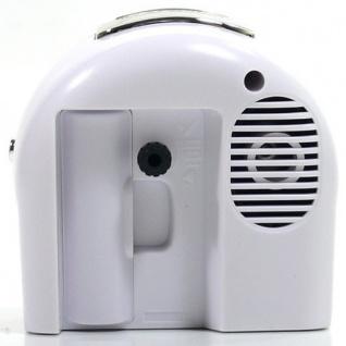 W&S 200901 Wecker Uhr schwarz-weiß leise Sekunde Analog Licht Alarm - Vorschau 2