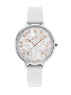 Julie Julsen JJW101SL-9 Uhr Damenuhr Lederarmband Weiß