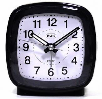 W&S Wecker 201352-schwarz leise Sekunde