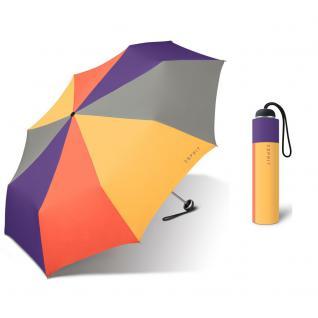 Esprit Mini Alu light viola combination Regenschirm