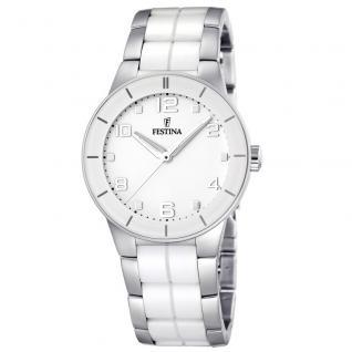 FESTINA F16531/1 KERAMIK Uhr Damenuhr kratzfestes Keramik weiß