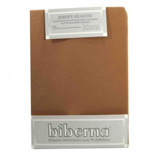 Biberna Jersey Elastic Spannbetttuch Cappuccino Braun 90x190 100x220