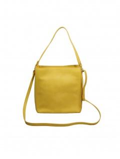 Esprit Damen Handtasche Tasche Henkeltasche Debbie Hobo Gelb