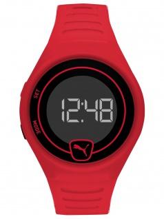 PUMA P5029 Uhr Herrenuhr Plastik Datum rot