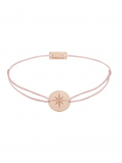 MOMENTOSS 21202883 Damen Armband Filo Polarstern Rose hellrosa 19 cm