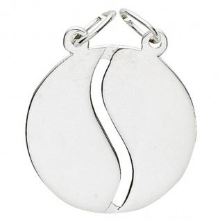 Basic Silber 29.1068S Damen Anhänger Partneranhänger Silber