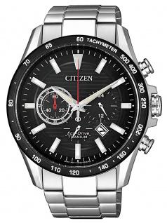 Citizen CA4444-82E Eco Drive Uhr Herrenuhr Titan Chrono Datum silber