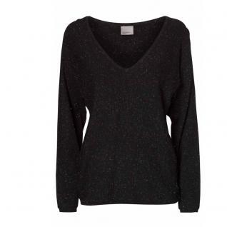 Vero Moda Pullover Pulli GLORY Lena LS V Neck Blouse Schwarz Gr. S