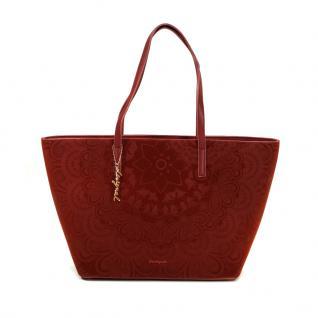 Desigual Bols San Fancisco Velvet Rot Tote Handtasche Tasche Shopper