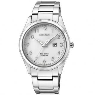 Citizen EW2470-87A Eco-Drive Uhr Herrenuhr Titan Datum Silber