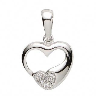 Basic Silber 21.1177S Damen Anhänger Herz Silber Zirkonia weiß