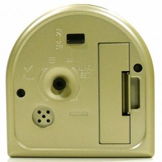 W&S 200602 Wecker Uhr champagner-weiß leise Sekunde Analog Licht Alarm - Vorschau 3