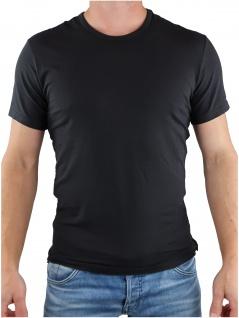 Calvin Klein Herren T-Shirt Kurzarm 2er Pack S/S Crew Neck Schwarz L