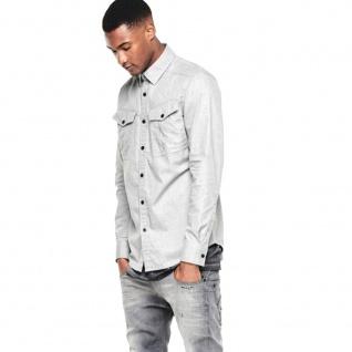 G-Star Herrenhemd Hemd Langarm Rovic Shirt L/S Grau Gr. L