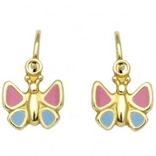 Basic Gold KI64 Mädchen Ohrringe Schmetterling 14 Karat (585) Gelbgold
