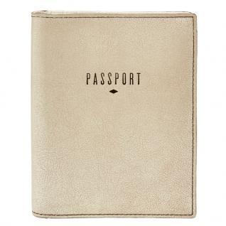 Fossil Geldbörse RFID Passport Case Gold SLG1078-751 Reisepass Etui