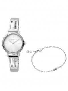 Esprit ES1L182M0045 Lorella Silver Set Uhr mit Armband Damenuhr silber