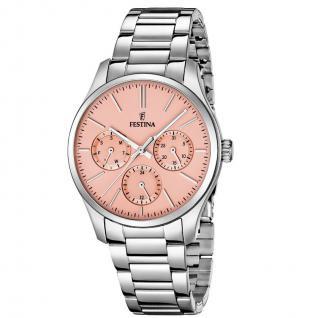 FESTINA F16813/2 TREND Uhr Damenuhr Edelstahl Datum silber