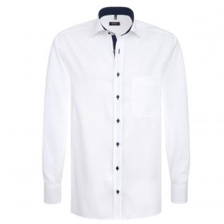 Eterna Herrenhemd Langarm Comfort Fit Weiß Gr. XXL/45 8100/00/E137
