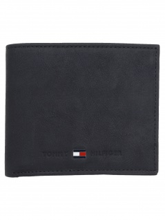 Tommy Hilfiger Kreditkartenetui Johnson Mini CC Wallet Leder Schwarz