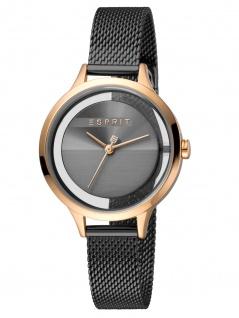 Esprit ES1L088M0065 Lucid Uhr Damenuhr Edelstahl Schwarz