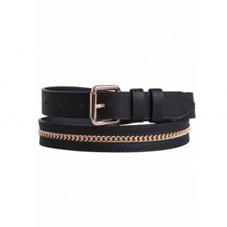 Pieces Damengürtel 17067312 RAPUNZEL Chain Jeans Belt Schwarz 85 cm