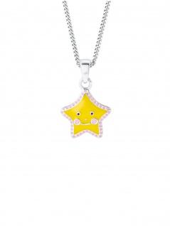 Prinzessin Lillifee 2024365 Mädchen Collier Stern Silber Gelb 38 cm