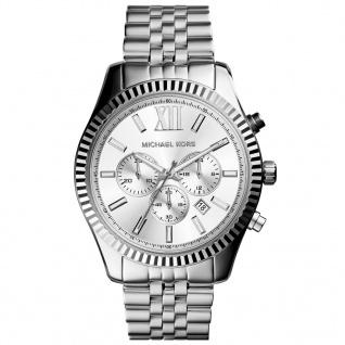 Michael Kors MK8405 Chronograph Uhr Herrenuhr Chrono Datum Silber