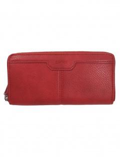 Esprit Damen Geldbörse Portemonnaies Agnes Stripe Zip Rot 010EA1V305