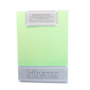Biberna Jersey Elastic Spannbetttuch Mintgrün 120 x 200 - 130 x 220